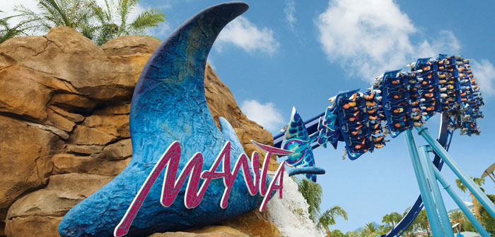 Manta Achterbahn Sea World Orlando